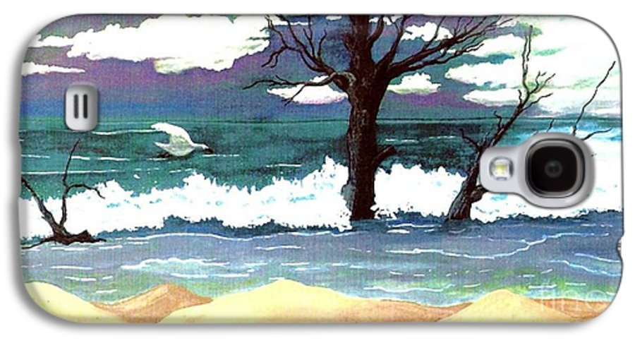 Original Watercolor Painting Galaxy S4 Case featuring the painting Lost Swan by Patricia Griffin Brett