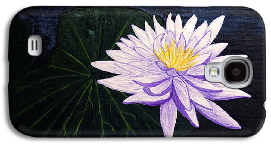 Original Painting Galaxy S4 Case featuring the painting Lotus Blossom At Night by Patricia Griffin Brett