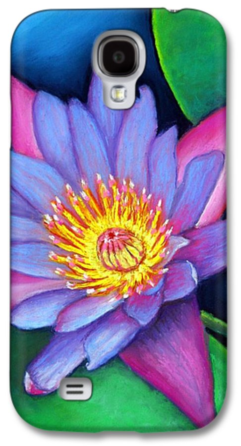 Flower Galaxy S4 Case featuring the painting Lotus Divine by Minaz Jantz