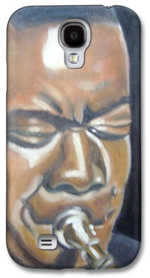 Louis Armstrong Galaxy S4 Case featuring the painting Louis Armstrong by Toni Berry