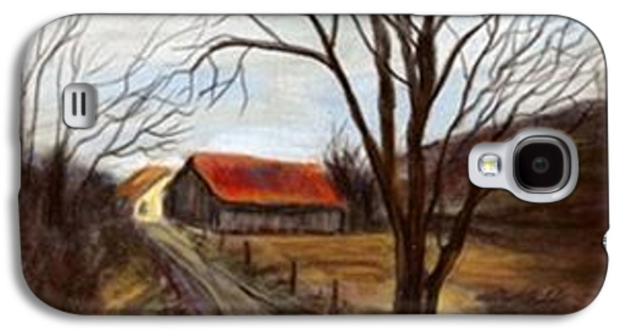 Barn Galaxy S4 Case featuring the painting Louisa Kentucky Barn by Gail Kirtz