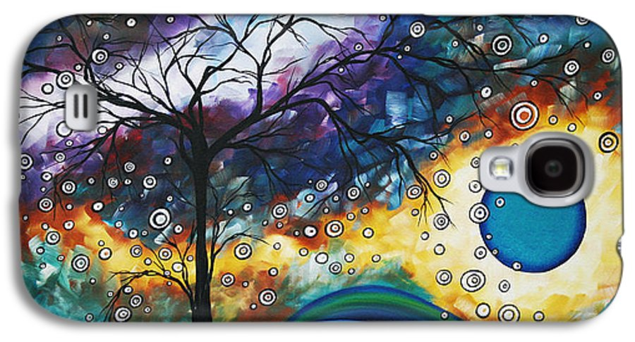 Wall Galaxy S4 Case featuring the painting Love And Laughter By Madart by Megan Duncanson