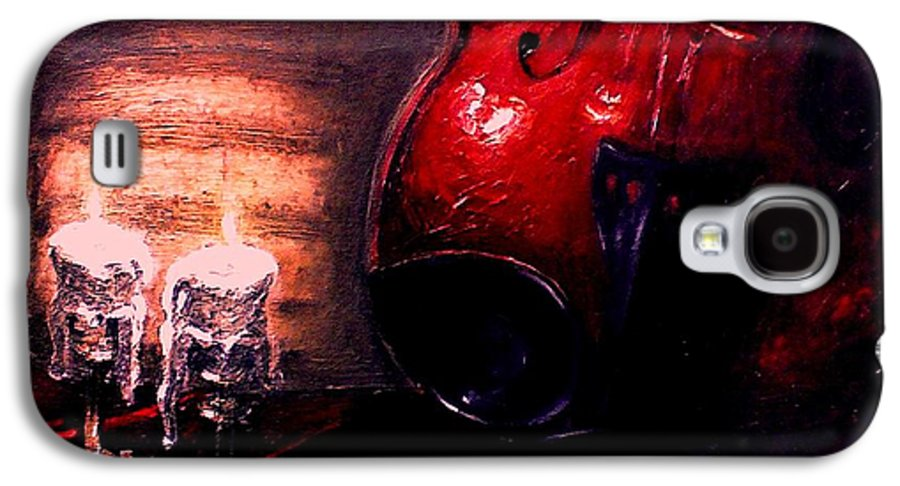Love Galaxy S4 Case featuring the painting Love For Music by Patricia Awapara