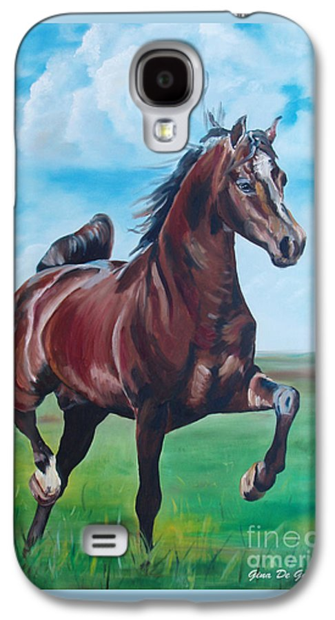 Horse Galaxy S4 Case featuring the painting Lovely by Gina De Gorna
