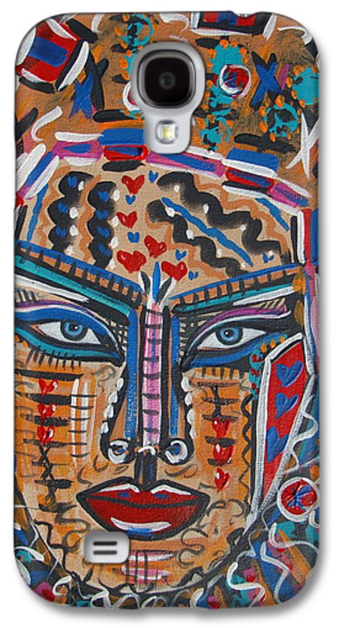 Abstract Galaxy S4 Case featuring the painting Loviola by Natalie Holland