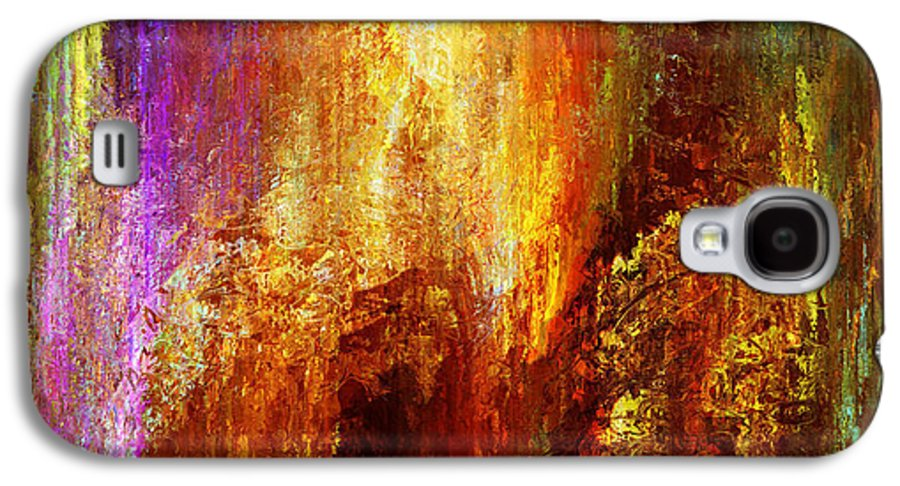 Large Abstract Galaxy S4 Case featuring the painting Luminous - Abstract Art by Jaison Cianelli