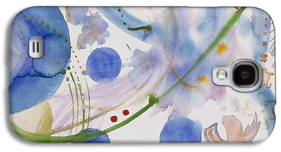 Abstract Galaxy S4 Case featuring the painting Lunar Galactic Convergence by Eileen Hale