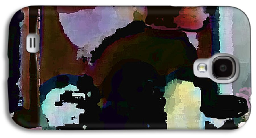 Abstract Expressionism Galaxy S4 Case featuring the painting Lunch Counter by Steve Karol