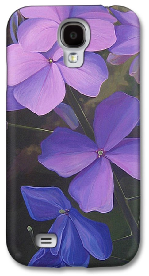 Closeup Of Colorado Wildflower Near Durango Galaxy S4 Case featuring the painting Lush Life by Hunter Jay