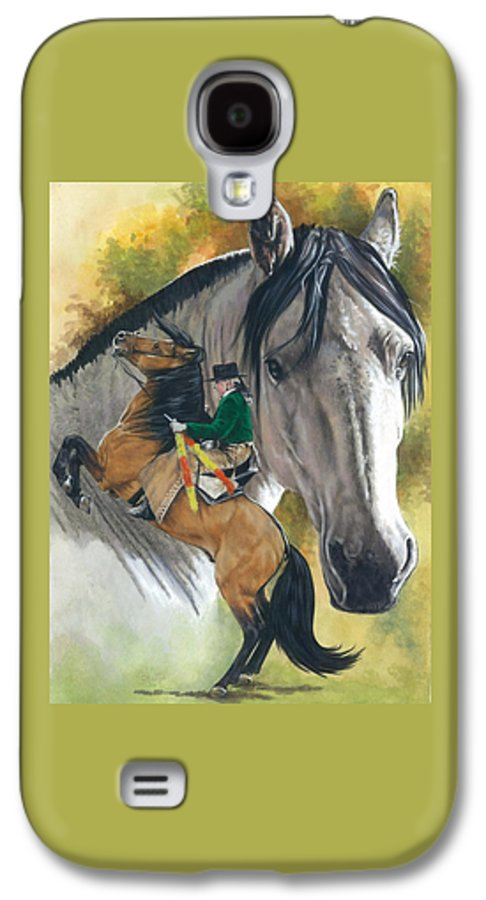 Horses Galaxy S4 Case featuring the mixed media Lusitano by Barbara Keith