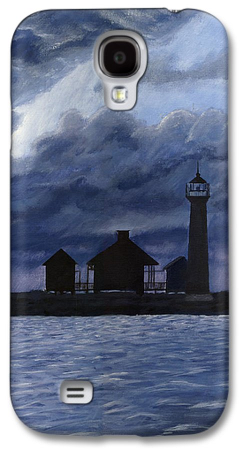 Landscape Galaxy S4 Case featuring the painting Lydia Ann Lighthouse by Adam Johnson