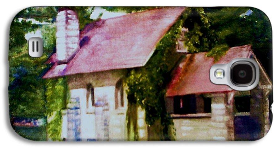 Church Galaxy S4 Case featuring the painting Lyons Falls Church by Sheila Mashaw