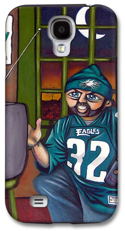 Philadelphia Galaxy S4 Case featuring the painting Mad Philly Fan In Texas by Elizabeth Lisy Figueroa