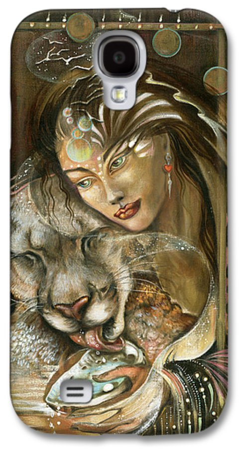 Wildlife Galaxy S4 Case featuring the painting Madonna by Blaze Warrender