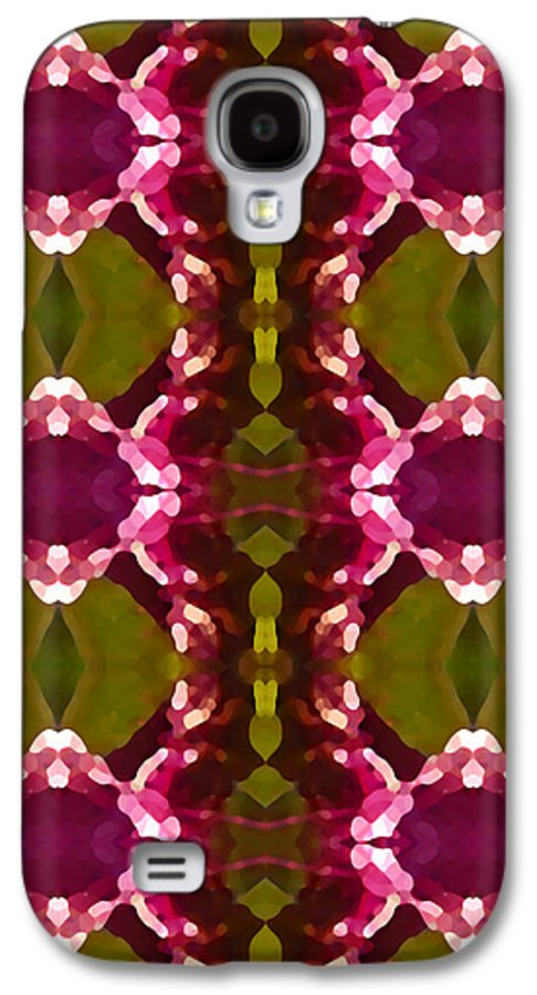 Abstract Galaxy S4 Case featuring the painting Magenta Crystal Pattern by Amy Vangsgard
