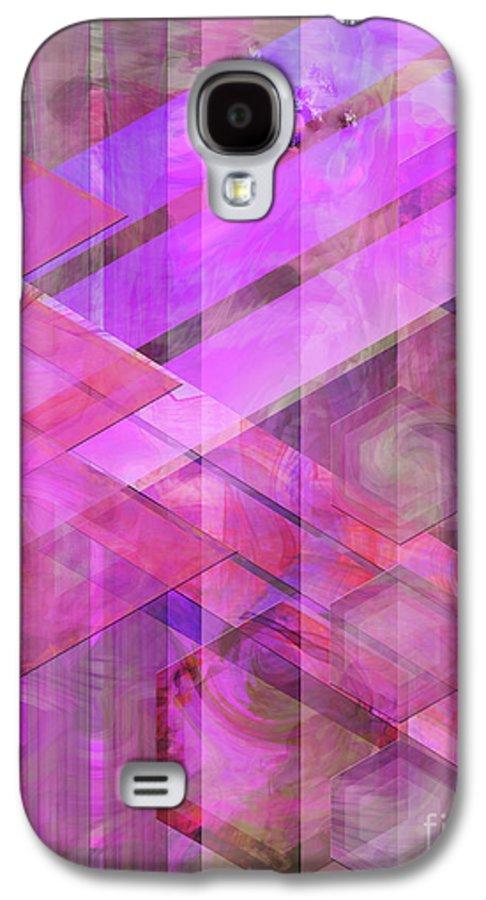 Magenta Haze Galaxy S4 Case featuring the digital art Magenta Haze by John Beck