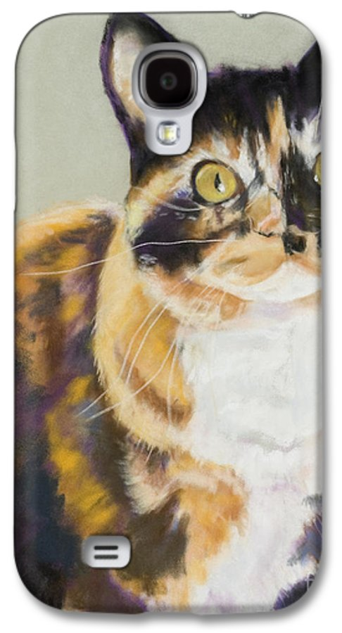 Calico Galaxy S4 Case featuring the painting Maggie Mae by Pat Saunders-White