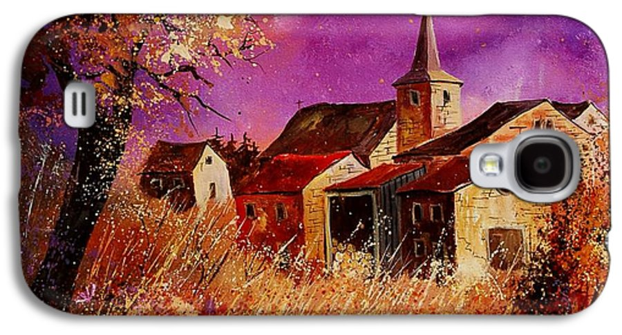Landscape Galaxy S4 Case featuring the painting Magic Autumn by Pol Ledent