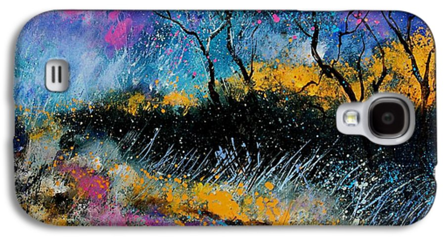 Landscape Galaxy S4 Case featuring the painting Magic Morning Light by Pol Ledent