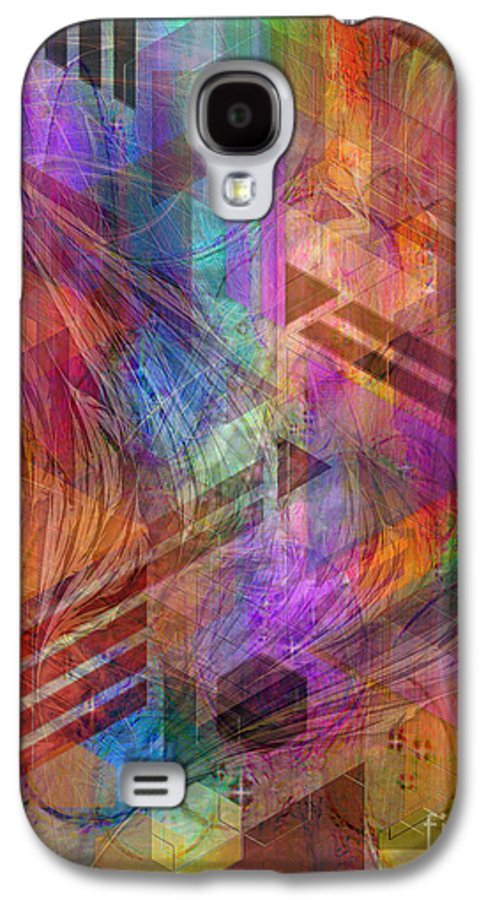 Magnetic Abstraction Galaxy S4 Case featuring the digital art Magnetic Abstraction by John Beck