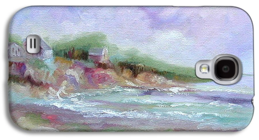Maine Coastline Galaxy S4 Case featuring the painting Maine Coastline by Ginger Concepcion