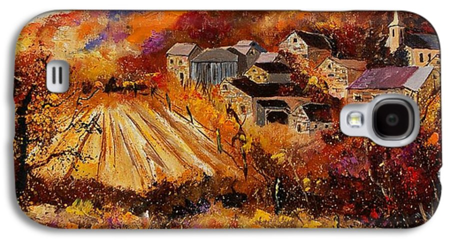 Poppies Galaxy S4 Case featuring the painting Maissin by Pol Ledent