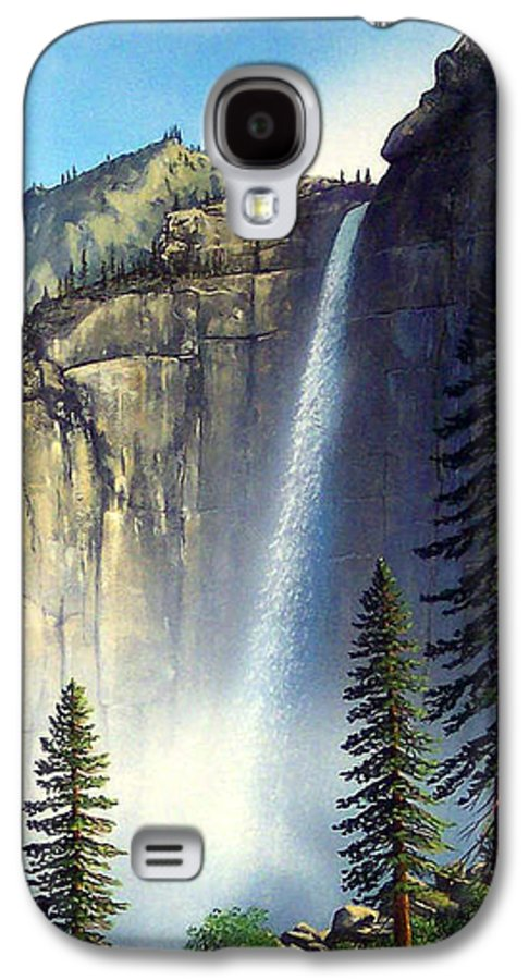 Landscape Galaxy S4 Case featuring the painting Majestic Falls by Frank Wilson