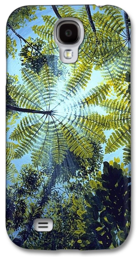 Chris Cox Galaxy S4 Case featuring the painting Majestic Treeferns by Christopher Cox