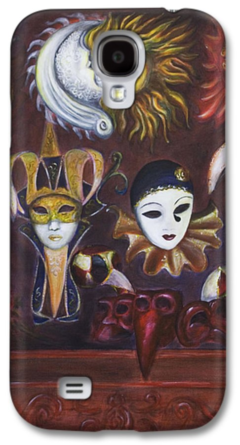 Masks Galaxy S4 Case featuring the painting Making Faces II by Nik Helbig