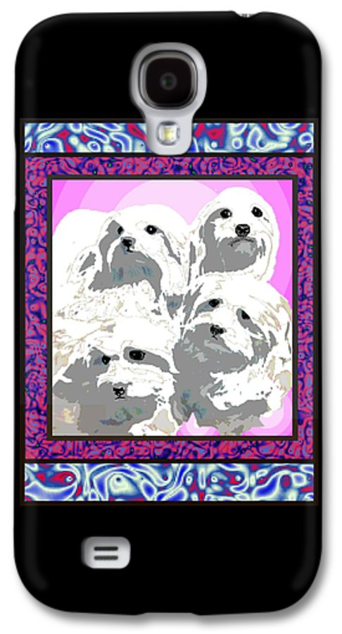 Maltese Group Galaxy S4 Case featuring the digital art Maltese Group by Kathleen Sepulveda