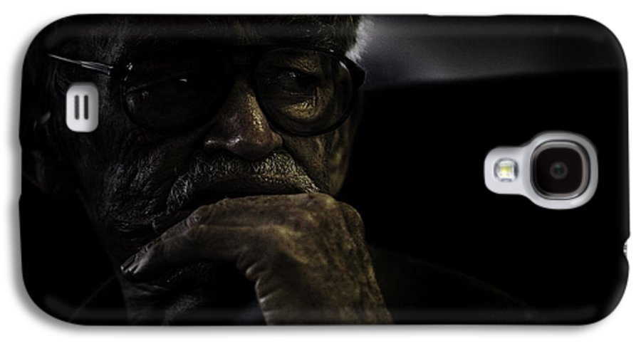Portrait Galaxy S4 Case featuring the photograph Man On Ferry by Sheila Smart Fine Art Photography