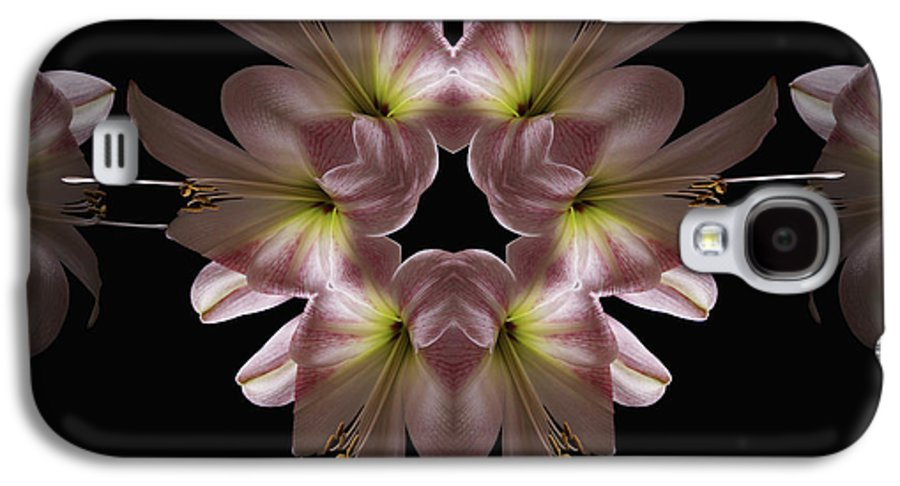 Mandala Galaxy S4 Case featuring the digital art Mandala Amarylis by Nancy Griswold