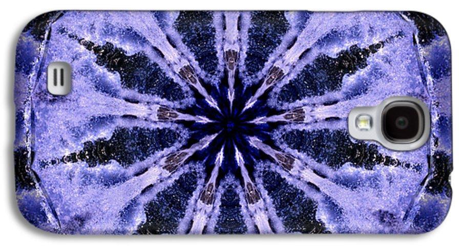 Mandala Galaxy S4 Case featuring the digital art Mandala Ocean Wave by Nancy Griswold