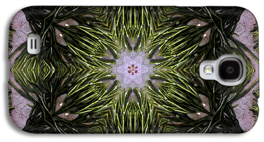 Mandala Galaxy S4 Case featuring the digital art Mandala Sea Sponge by Nancy Griswold