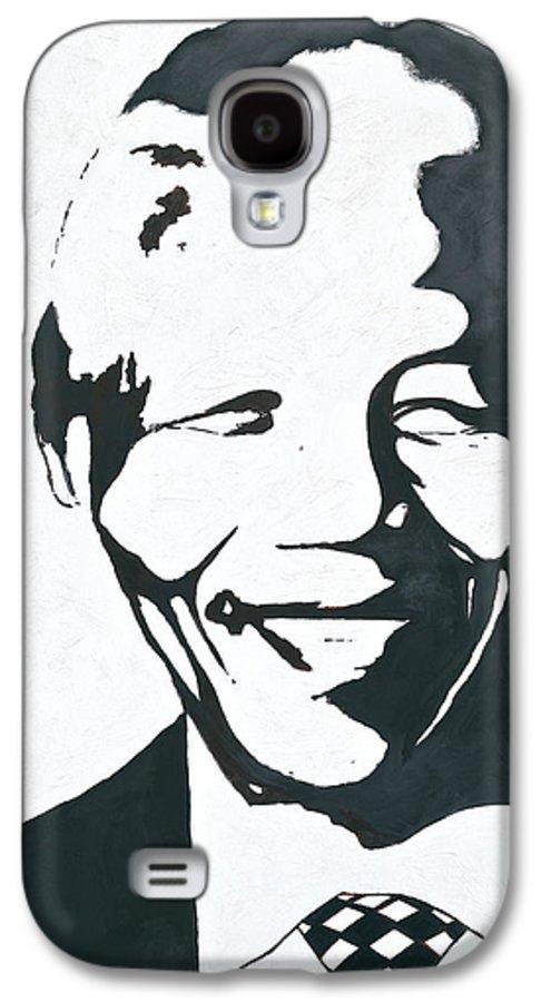 Mandela By Emeka! Galaxy S4 Case featuring the painting Mandela by Emeka Okoro