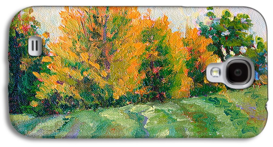 Impressionism Galaxy S4 Case featuring the painting Maple Grove by Keith Burgess