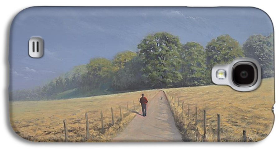 Landscape Galaxy S4 Case featuring the painting Mapledurham by Richard Picton
