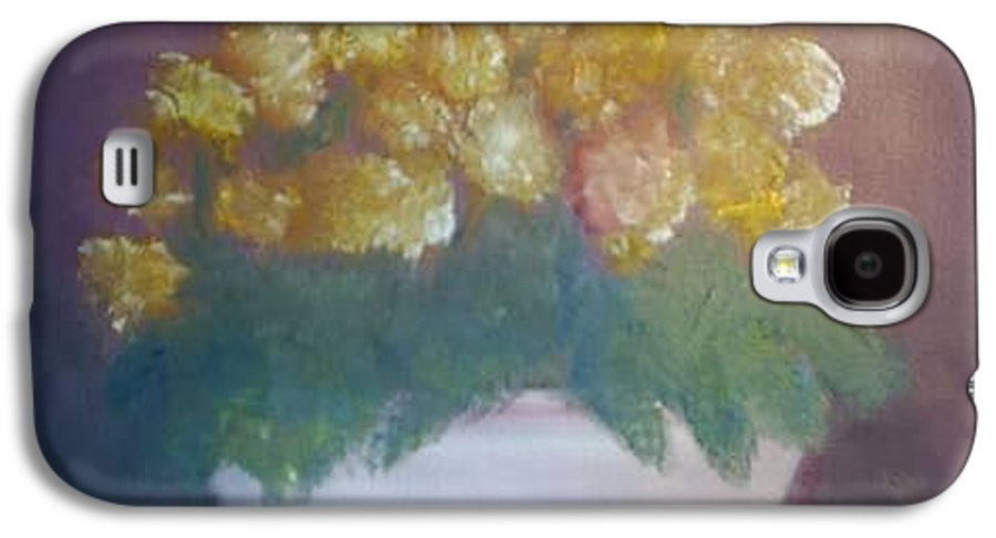 Marigolds Galaxy S4 Case featuring the painting Marigolds by Sheila Mashaw