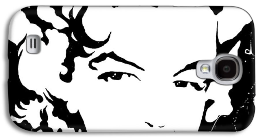 Portrait Galaxy S4 Case featuring the painting Marilyn Monroe by Curtiss Shaffer