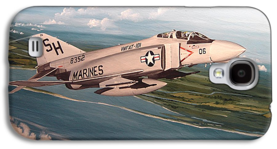 Aviation Galaxy S4 Case featuring the painting Marine Phantom by Marc Stewart