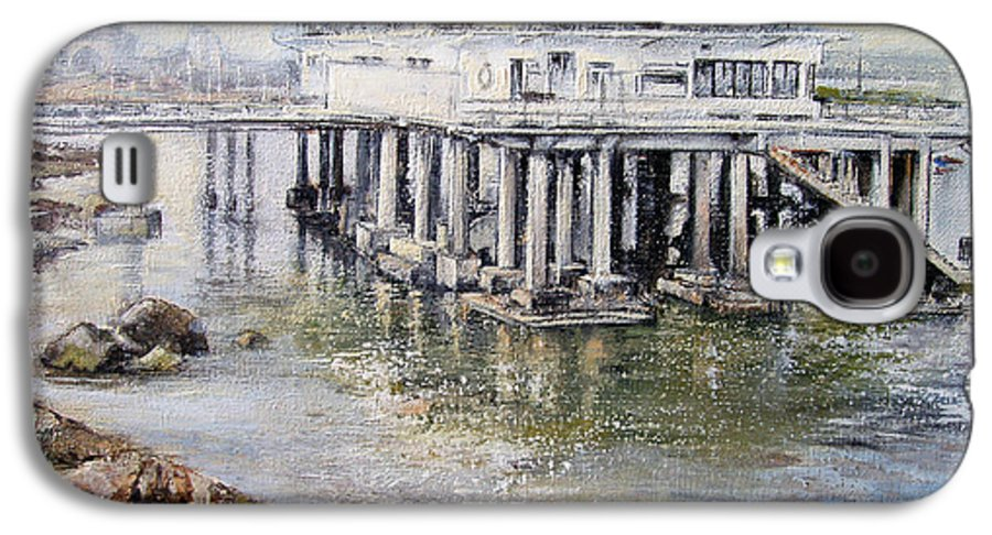 Maritim Galaxy S4 Case featuring the painting Maritim Club Castro Urdiales by Tomas Castano