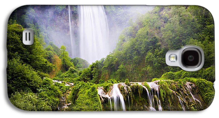 Italy Galaxy S4 Case featuring the photograph Marmore Waterfalls Italy by Marilyn Hunt