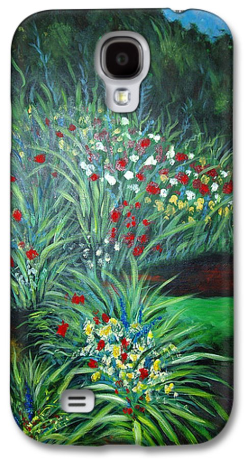 Landscape Galaxy S4 Case featuring the painting Maryann's Garden 3 by Nancy Mueller