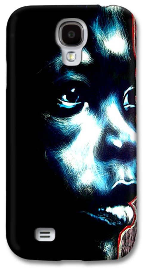 Galaxy S4 Case featuring the mixed media Master Blue by Chester Elmore
