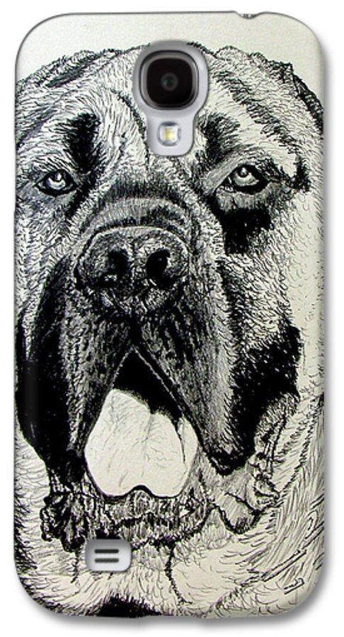 Mastiff Galaxy S4 Case featuring the drawing Mastiff by Stan Hamilton