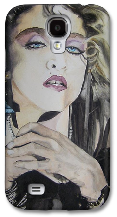 Madonna Galaxy S4 Case featuring the painting Material Girl by Lance Gebhardt