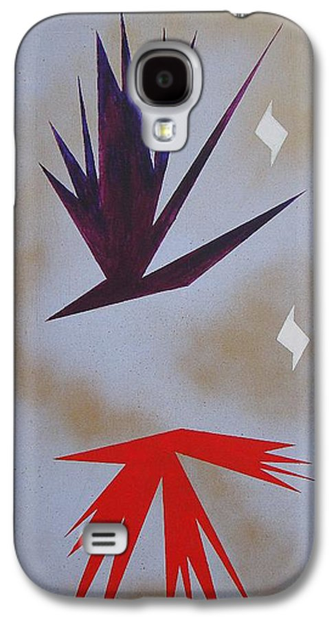 Birds Galaxy S4 Case featuring the painting Mating Ritual by J R Seymour