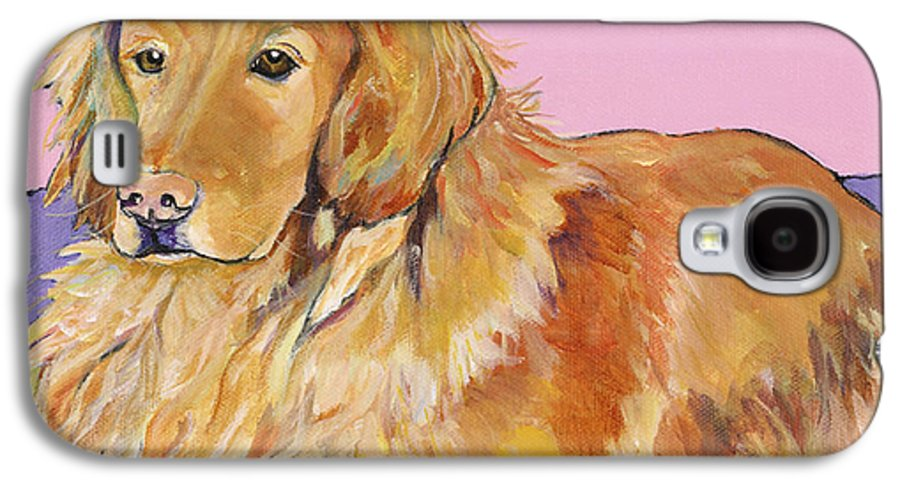 Golden Retriever Galaxy S4 Case featuring the painting Maya by Pat Saunders-White