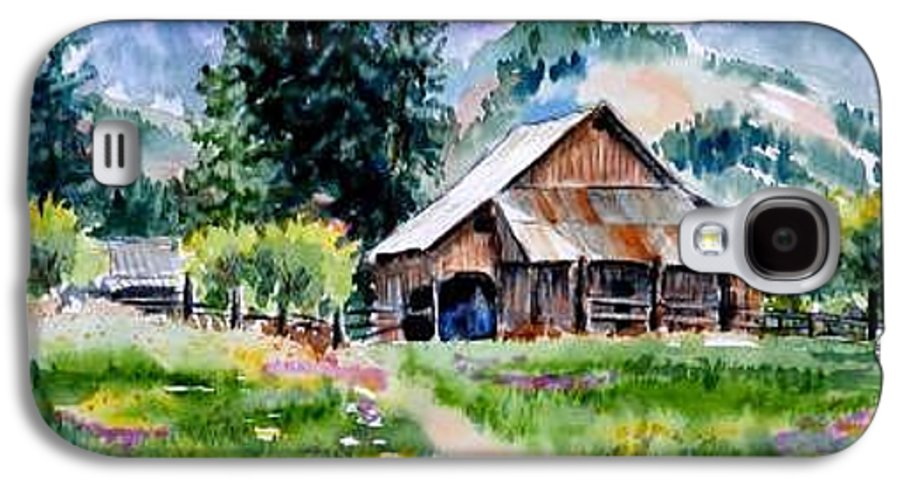 Barn Galaxy S4 Case featuring the painting Mcghee Farm by Lynee Sapere