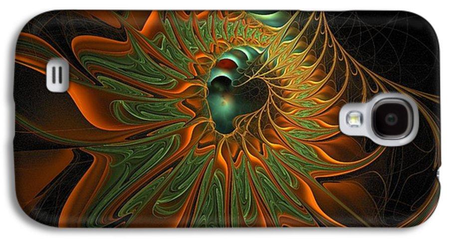 Digital Art Galaxy S4 Case featuring the digital art Meandering by Amanda Moore